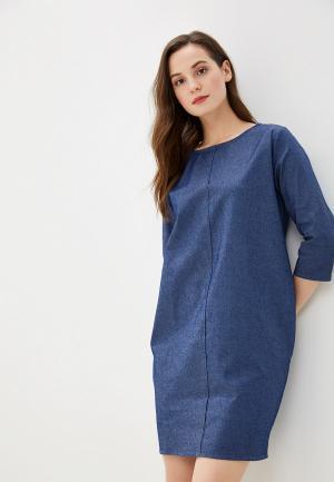 Платье джинсовое Massimiliano Bini. Цвет: синий