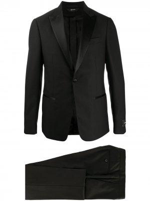 Костюм с однобортным пиджаком Z Zegna. Цвет: черный