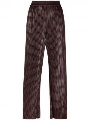 Плиссированные брюки с завышенной талией Krizia. Цвет: коричневый