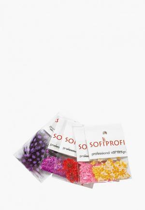 Набор для дизайна ногтей Sofiprofi. Цвет: разноцветный