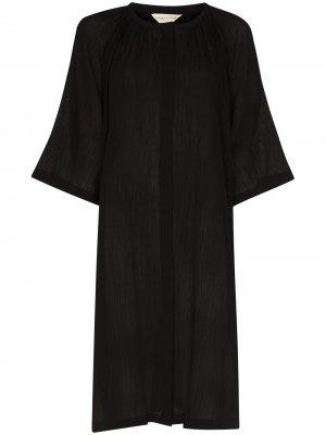 Платье миди на пуговицах Missing You Already. Цвет: черный