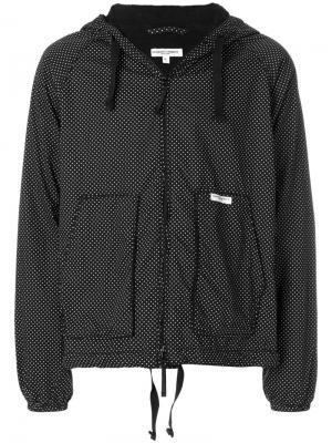 Куртка с капюшоном узором в горох Engineered Garments. Цвет: черный