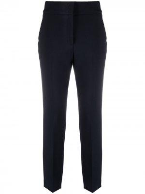 Укороченные брюки строгого кроя Peserico. Цвет: синий