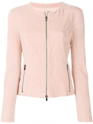 Приталенная куртка на молнии Drome. Цвет: розовый