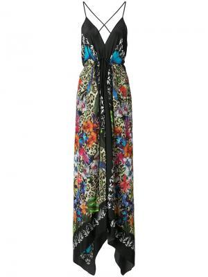Платье Angelina Nicole Miller. Цвет: разноцветный