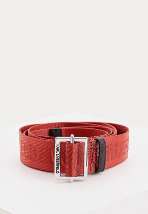 Ремень Karl Lagerfeld. Цвет: красный