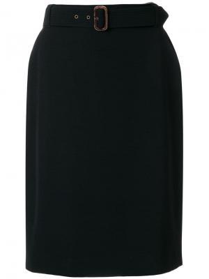 Юбка с поясом на талии Jean Paul Gaultier Pre-Owned. Цвет: черный