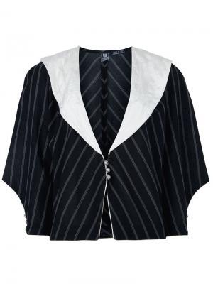 Пиджак в полоску Emanuel Ungaro Pre-Owned. Цвет: черный