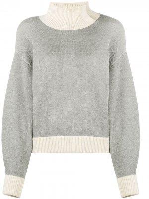 High neck ribbed sweatshirt 3.1 Phillip Lim. Цвет: серый