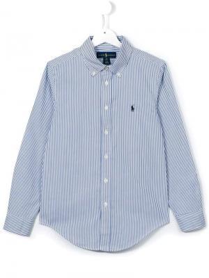 Рубашка в полоску Ralph Lauren Kids. Цвет: синий