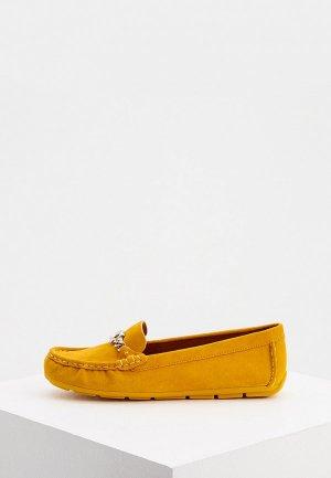Мокасины Coach. Цвет: желтый