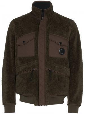 Куртка двухсторонняя CP Company. Цвет: зеленый
