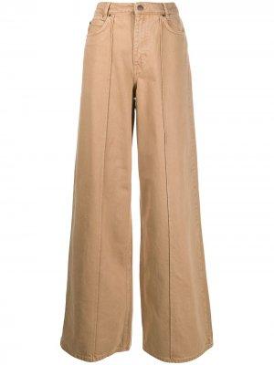 Широкие джинсы с завышенной талией Victoria Beckham. Цвет: коричневый