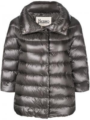 Feather down puffer jacket Herno. Цвет: серый