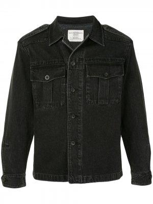 Джинсовая куртка-рубашка Kent & Curwen. Цвет: черный