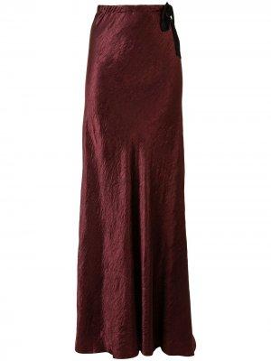 Бархатная юбка макси Ann Demeulemeester. Цвет: красный