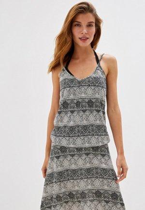 Платье пляжное Lascana. Цвет: серый