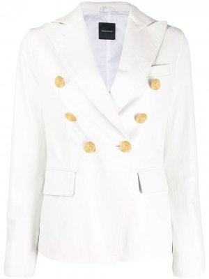 Двубортный пиджак Tagliatore. Цвет: белый