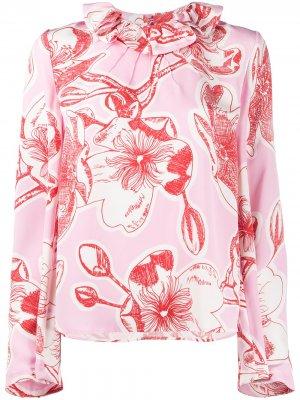 Блузка Poppy с цветочным принтом Stine Goya. Цвет: розовый