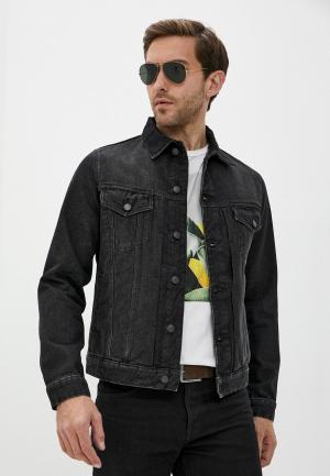 Куртка джинсовая Zadig & Voltaire. Цвет: серый