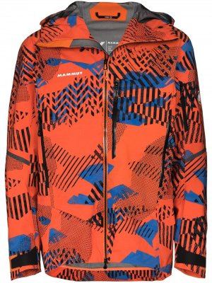 Куртка Nordwand Visiflage на молнии Mammut. Цвет: оранжевый