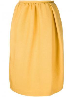 Юбка с присборенной талией Rochas. Цвет: желтый