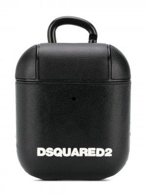 Клатч с логотипом Dsquared2. Цвет: черный