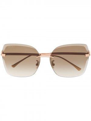 Солнцезащитные очки Corin в квадратной оправе Jimmy Choo Eyewear. Цвет: золотистый
