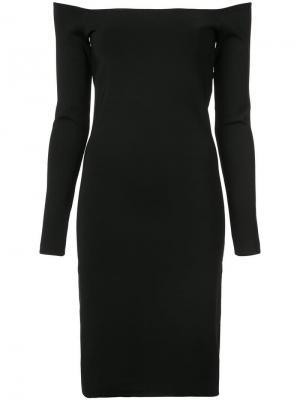 Приталенное платье с открытыми плечами Elizabeth And James. Цвет: черный