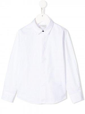 Однотонная рубашка с длинными рукавами Paolo Pecora Kids. Цвет: белый