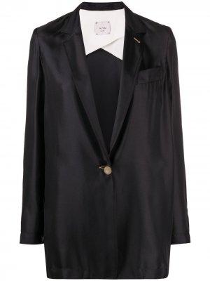 Удлиненный блейзер Alysi. Цвет: черный