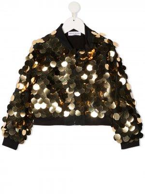 Sequined bomber jacket Sonia Rykiel. Цвет: золотистый