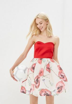 Платье adL. Цвет: красный