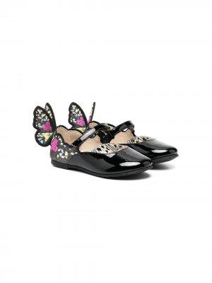 Декорированные туфли Chiara Sophia Webster Mini. Цвет: черный