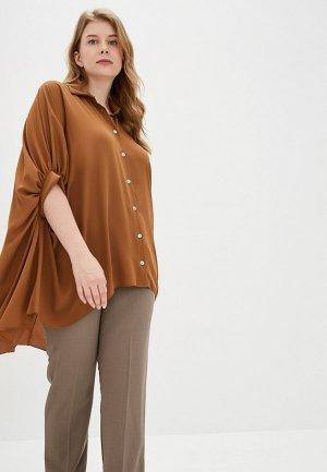 Блуза Kitana by Rinascimento. Цвет: коричневый