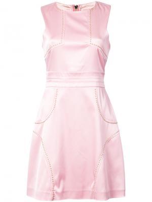 Приталенное платье без рукавов Thomas Wylde. Цвет: розовый