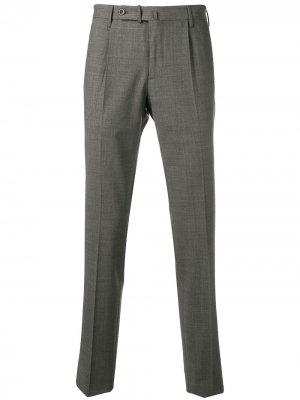 Классические брюки строгого кроя Incotex. Цвет: серый