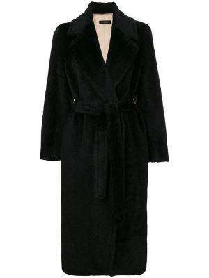 Пальто Greta в стилистике халата Antonelli. Цвет: черный
