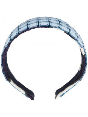 Ободок на голову со вставками Miu Vintage. Цвет: синий
