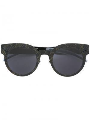 Солнцезащитные очки Maison Margiela x  MMtransfer001 Mykita. Цвет: черный