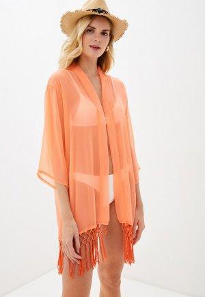 Туника пляжная Brave Soul. Цвет: оранжевый