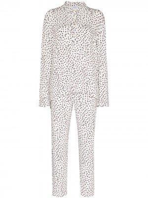 Пижама Nora с цветочным принтом LESET. Цвет: белый