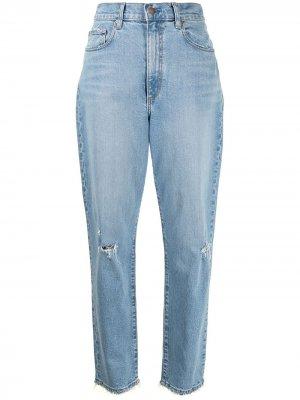 Зауженные джинсы Frankie Nobody Denim. Цвет: синий