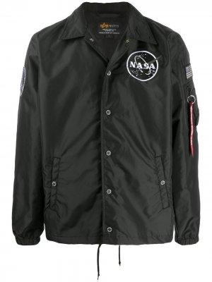 Куртка NASA Alpha Industries. Цвет: черный
