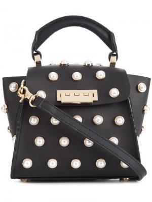 Мини сумка через плечо Eartha Iconic Top Handle Zac Posen. Цвет: черный