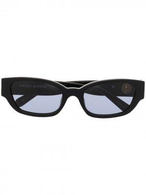 Солнцезащитные очки Magda в квадратной оправе Linda Farrow. Цвет: черный