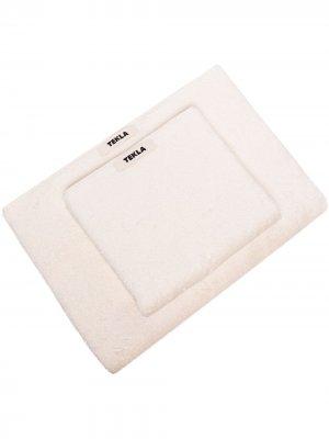 Комплект полотенец с нашивкой-логотипом TEKLA. Цвет: белый