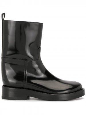 Лакированные ботинки Ann Demeulemeester. Цвет: черный