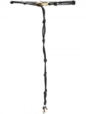 Ремень с узлами Krizia. Цвет: черный
