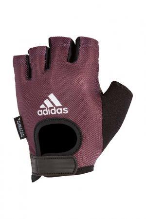 Перчатки для фитнеса ADIDAS. Цвет: пурпурный